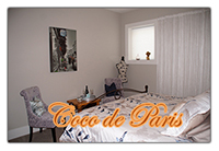 Coco de Paris offers a king-sized bed and Parisian decor